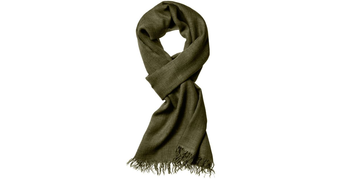 theory novelty scarf in everyday in green lyst