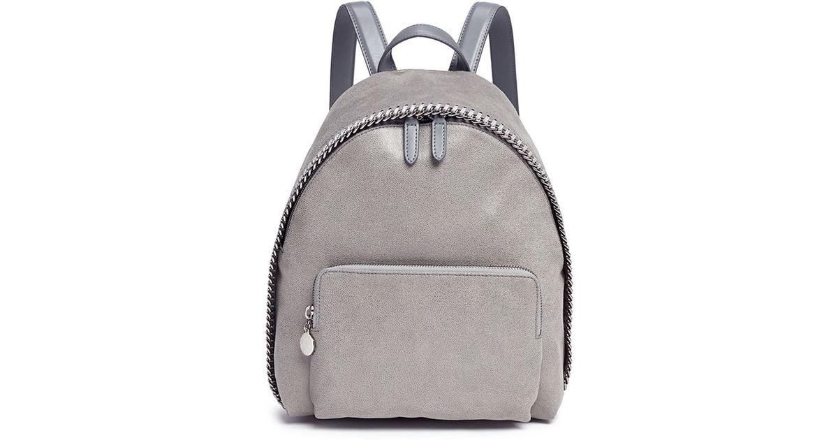 d54bad04b962 Lyst - Stella McCartney  falabella  Small Shaggy Deer Backpack in Gray
