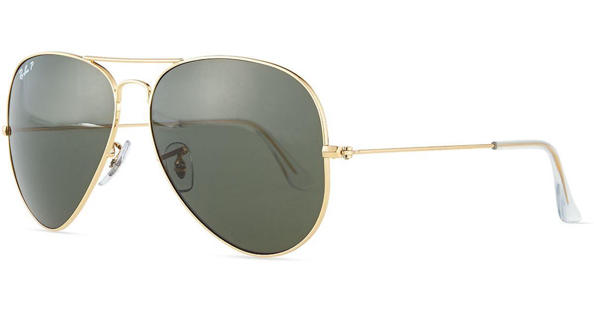 8a611994950e1 Lyst - Ray-Ban Original Aviator Polarized Sunglasses in Green for Men
