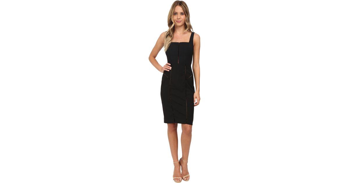 a91df9feef325 Nicole Miller Alaiya Square Neck Cocktail Dress in Black - Lyst