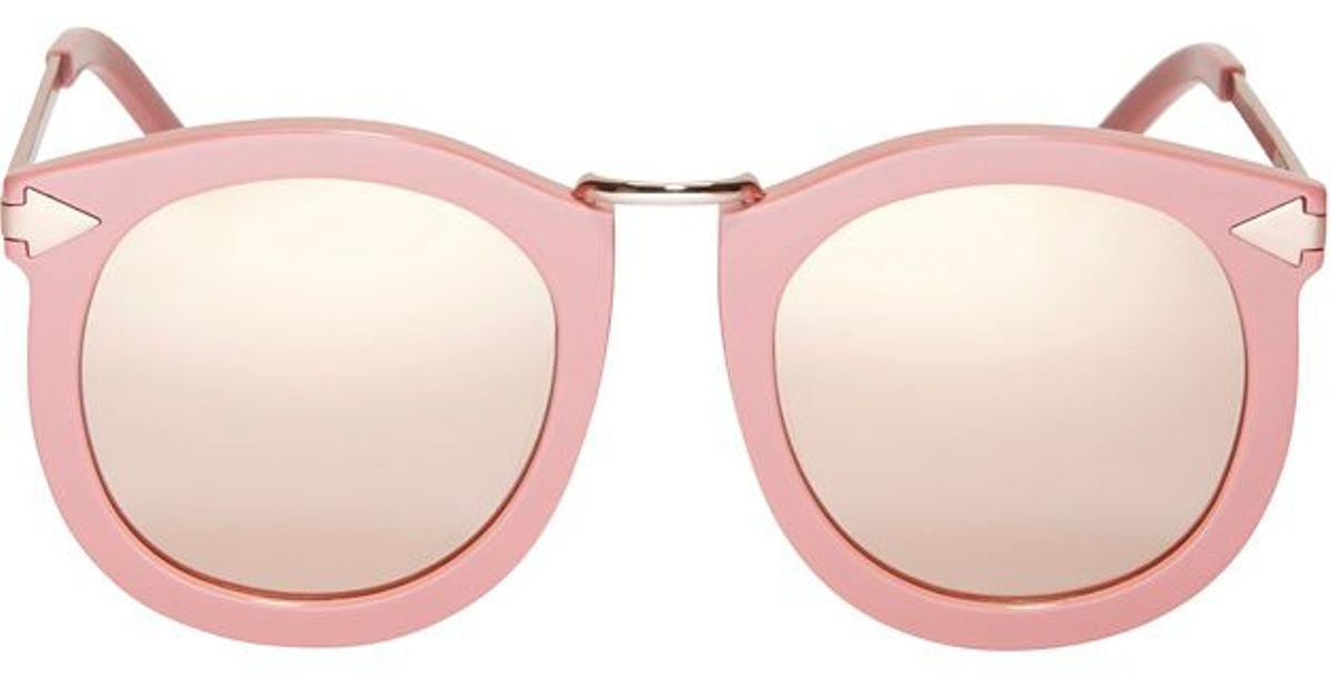 ac42bbf170c Lyst - Karen Walker Super Lunar Sunglasses  Pink in Pink