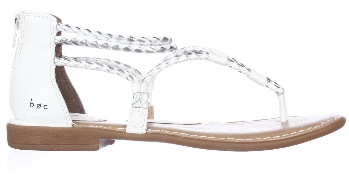 Born Boc Woven Flat Sandals In White Save 56 Lyst
