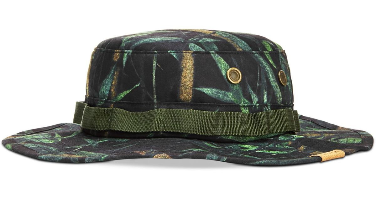 0db9e40fd9e06 ... cheap lyst hurley safari bucket hat in green for men 7f77e 6aad4