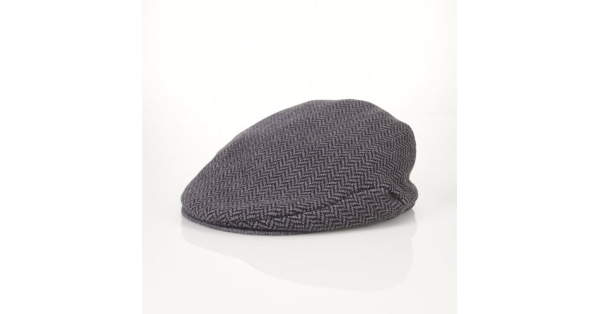 eac64147d7b50 ... lyst polo ralph lauren knit driving cap in gray for men