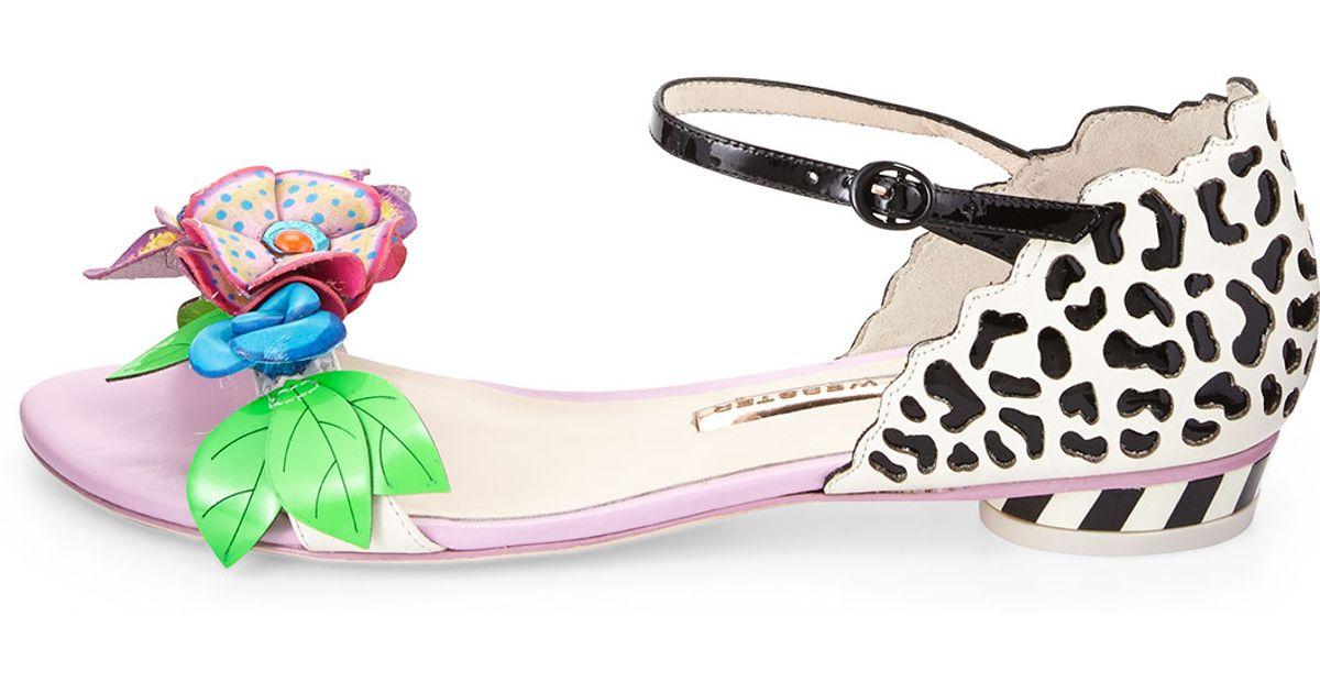f1a8fa6ee993 Lyst - Sophia Webster Lilico Floral Jungle Flat Sandals