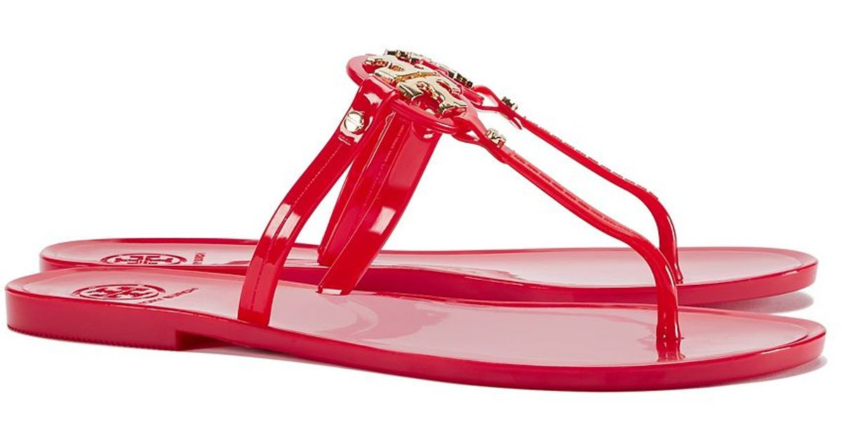 845816c5706 Lyst - Tory Burch Mini Miller Jelly Thong Sandal in Red
