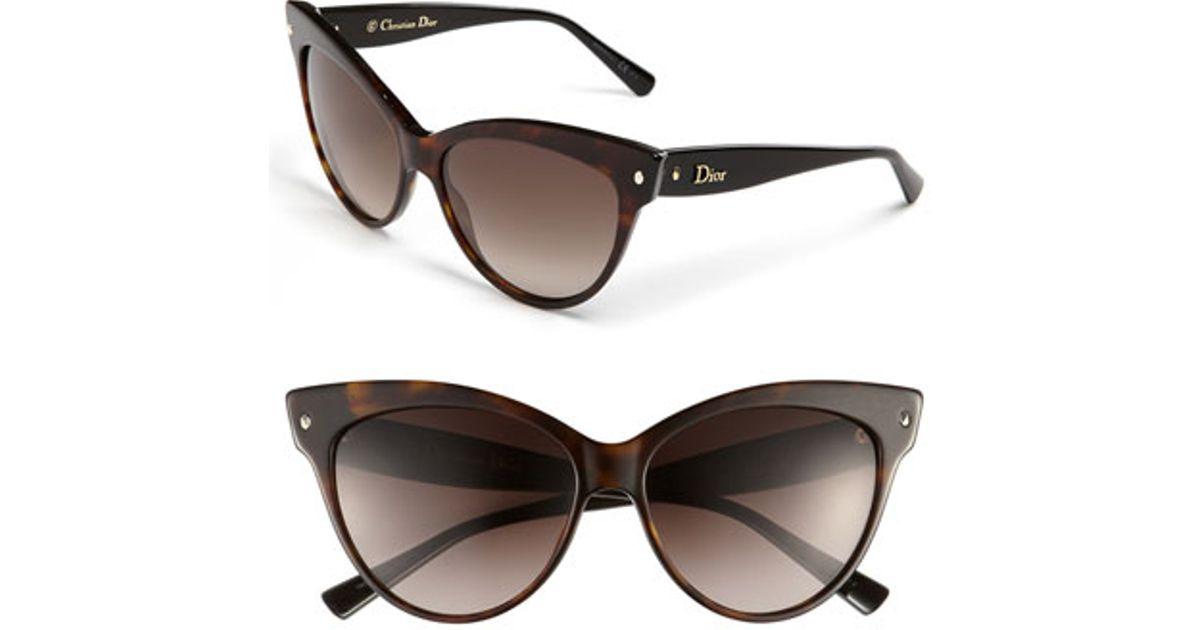9b5e52e80975 Lyst - Dior  mohotani  58mm Cat Eye Sunglasses - Havana  Black in Brown