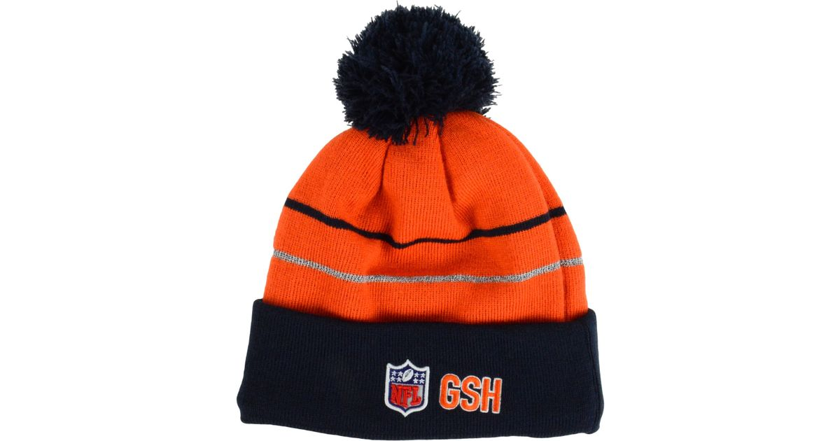 107ea2418ce ... new era 30c0c b9a6e  free shipping lyst ktz chicago bears thanksgiving  on field reflective sport knit hat in orange for