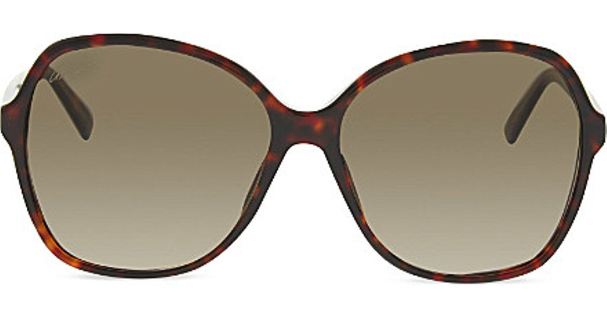 b315214fd659b Gucci Gg3721 Oversized Tortoise Shell Sunglasses in Brown - Lyst
