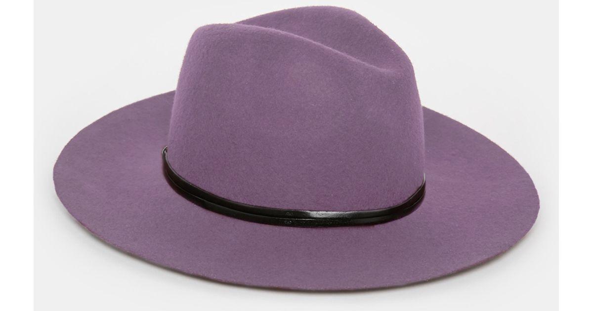 Lyst - Catarzi Wide Brim Unstructured Fedora Hat in Purple for Men 4db46d01acc