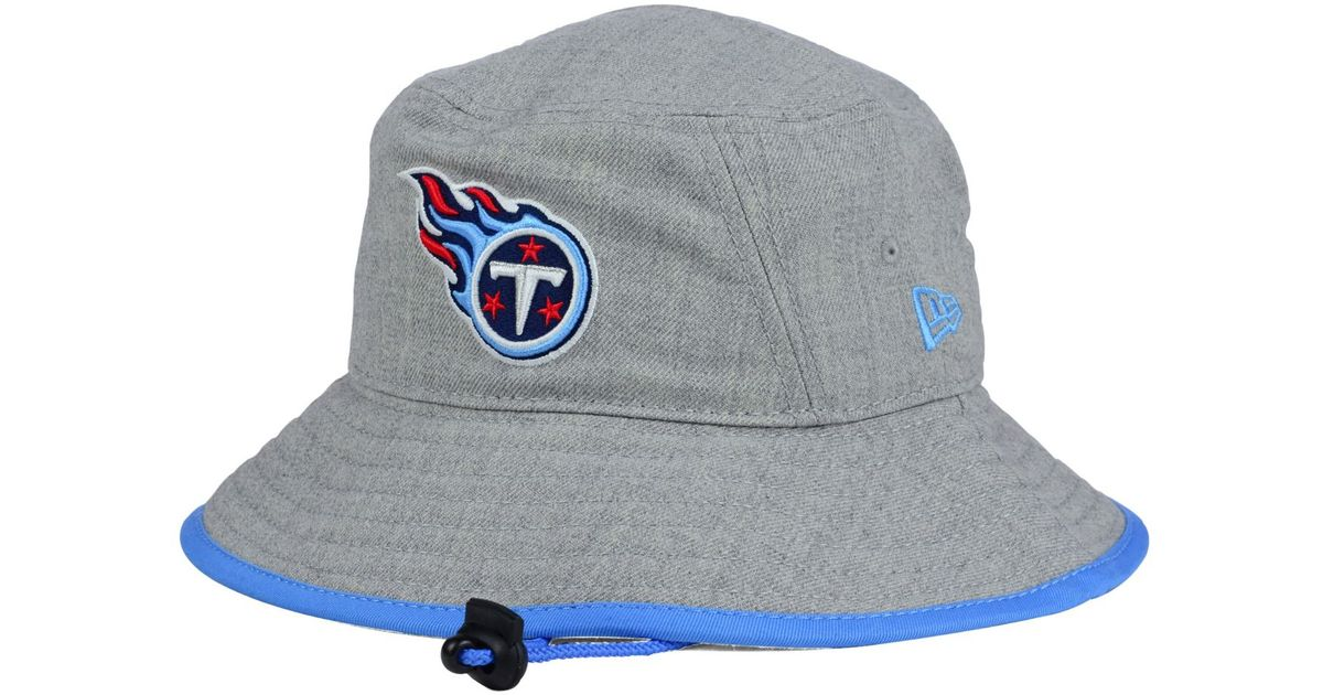 ad21e6a7410 Lyst - KTZ Tennessee Titans Nfl Heather Gray Bucket Hat in Gray