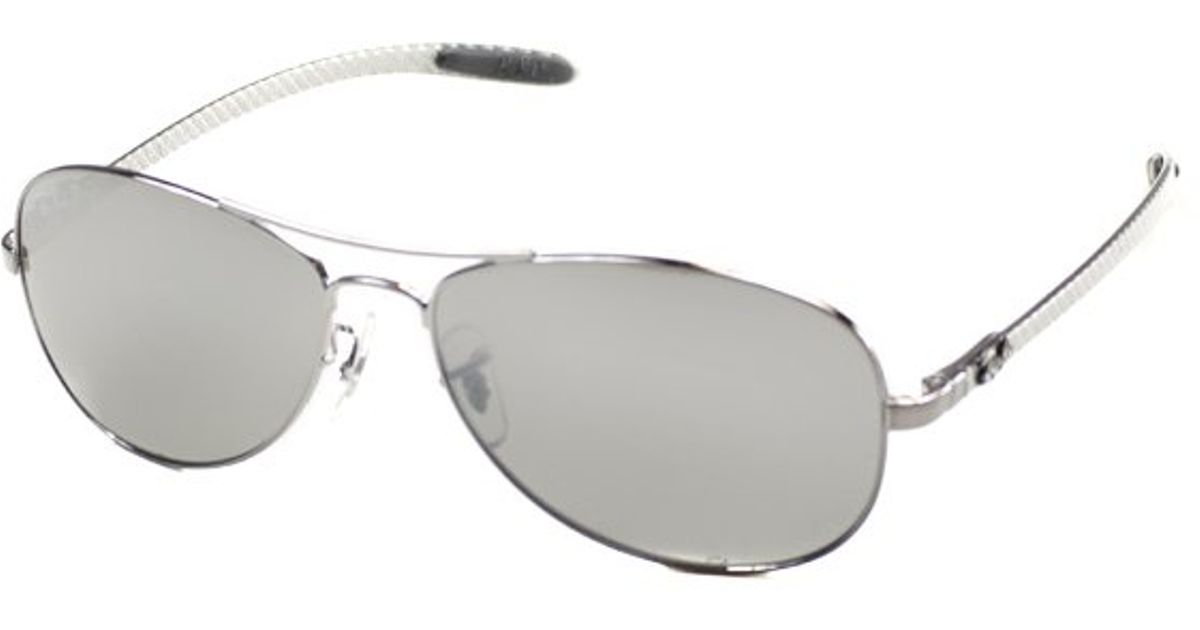 ray ban aviator tech sunglasses gunmetal carbon 8301