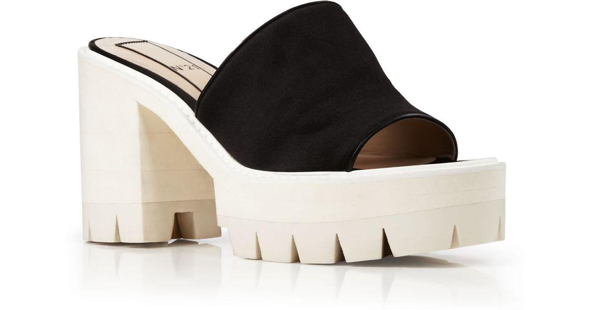 Sole Sandals Lyst Open Slide Black Bird Platform Lug Toe N°21 4Aq3RLjc5