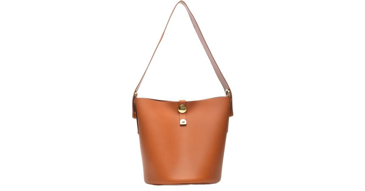 4467a786b236 Lyst - Sophie Hulme Orange Swing Bucket Bag - Sold Out in Orange