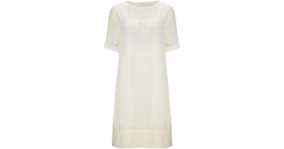 ebdf435e4ab9b Somerset by Alice Temperley Embroidered Silk Dress in Natural - Lyst