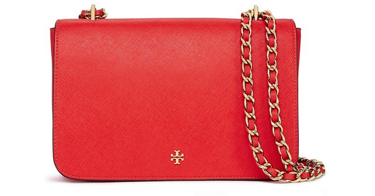 504f6bcd973 Lyst - Tory Burch Robinson Adjustable Shoulder Bag in Red
