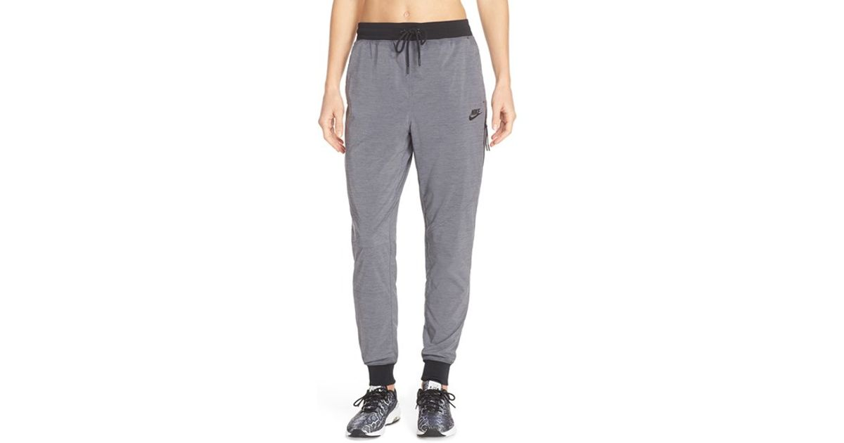 Simple Nike Bonded Woven Pants In Gray  Lyst