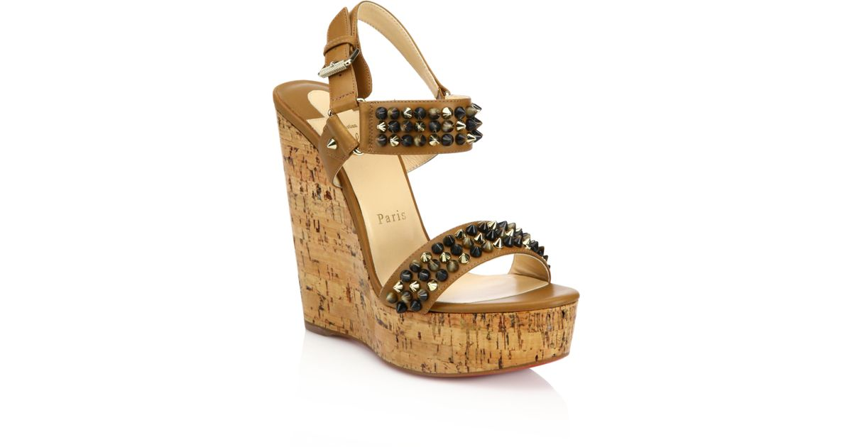 factory price 63245 b565f christian louboutin patent platform wedges, christian ...