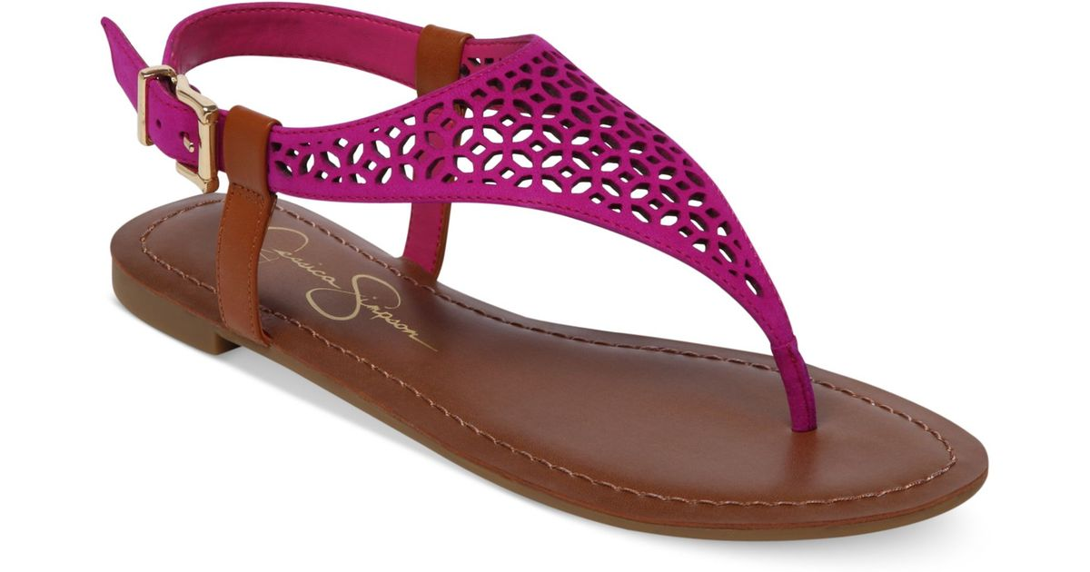 291cbe99f79 Lyst - Jessica Simpson Grile Flat Thong Sandals in Purple