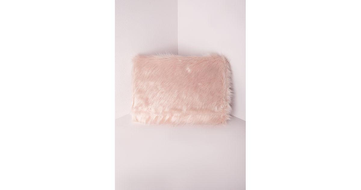 Missguided - Faux Fur Clutch Pink - Lyst bd8e3ecf05499