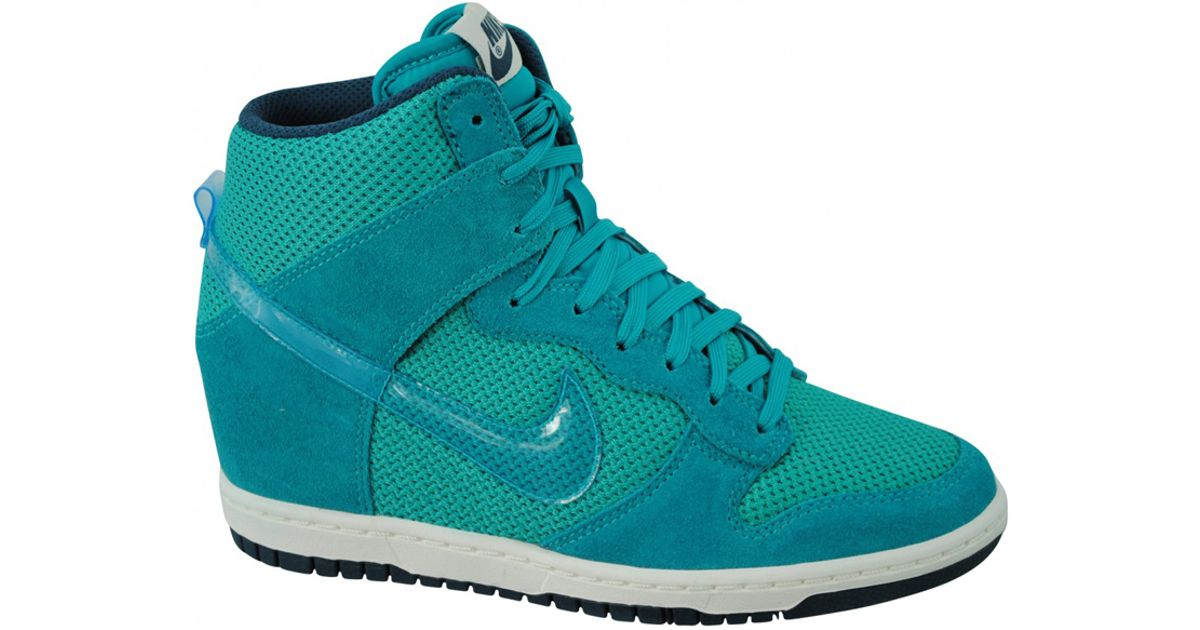 cc30bcc3c4b Lyst - Nike Dunk Sky Hi Turbo Green in Blue