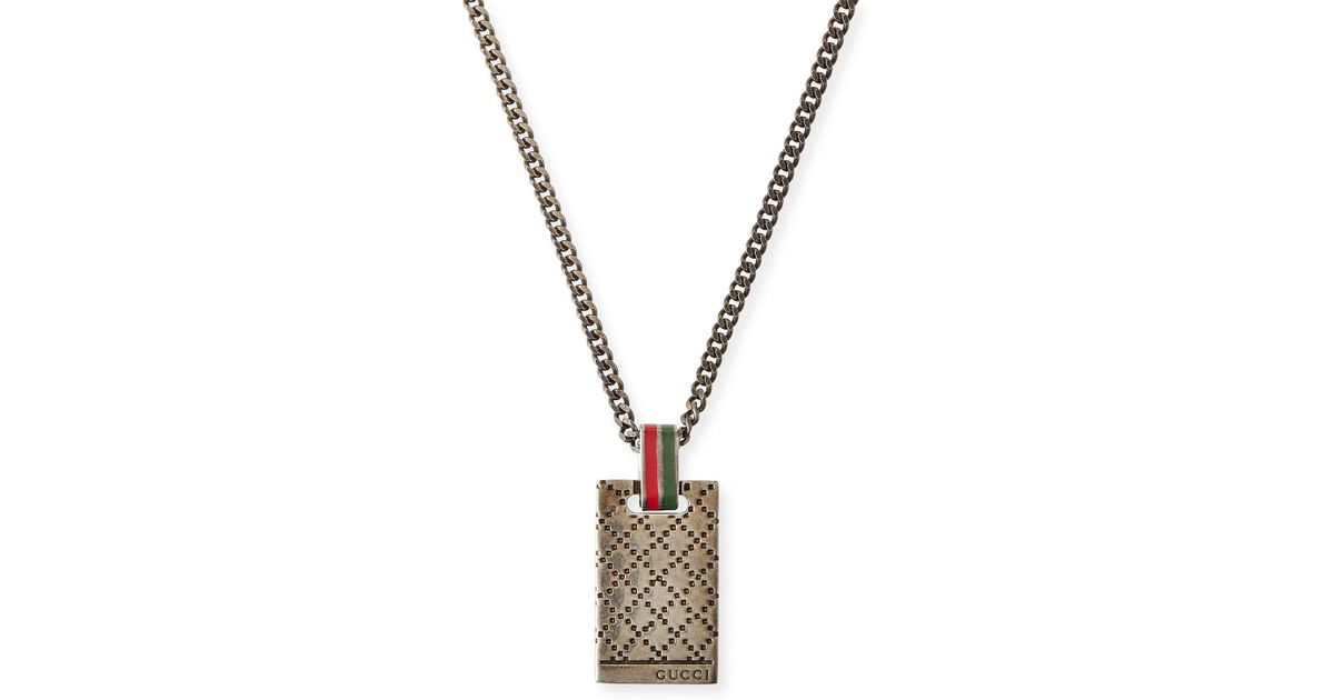 c55afb7759f Lyst Gucci Mens Diamantissima Necklace In Metallic For Men