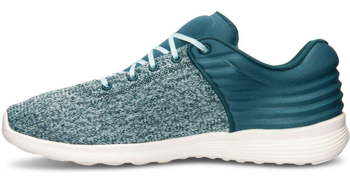 b8257622330 Lyst - Reebok Women s Skyscape Fuse Walking Sneakers From Finish Line in  Blue