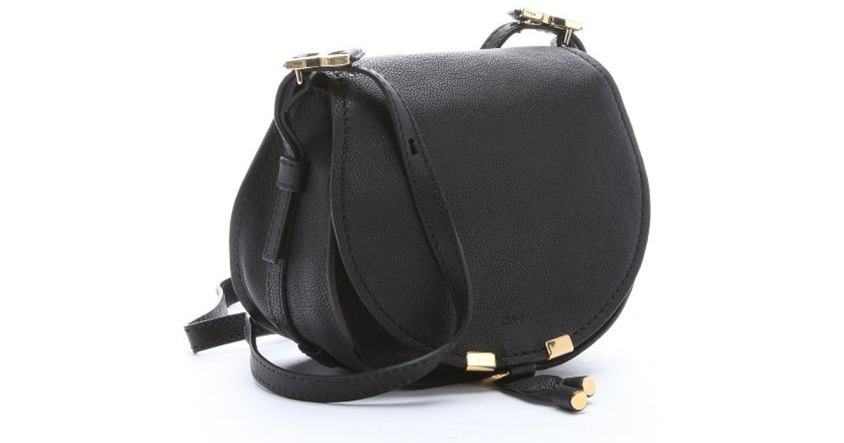 MARCIE SMALL SADDLE BAG IN GRAINED CALFSKIN