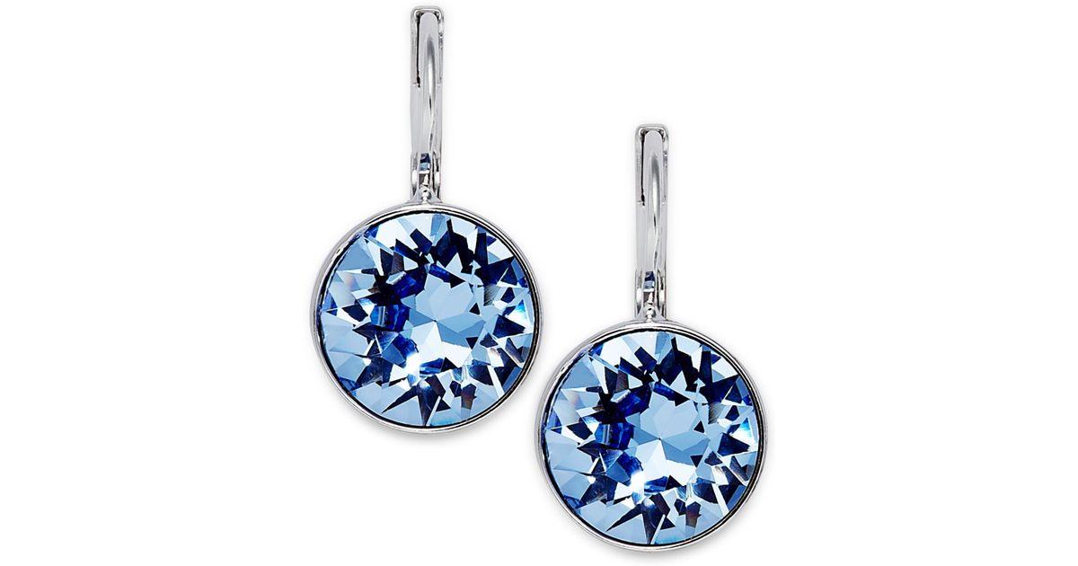 Swarovski Earrings Crystal Drop Earrings In Silver Silver