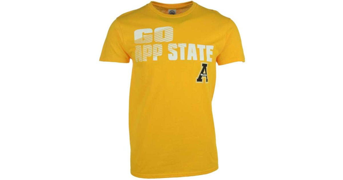 new arrival 8b9f6 d5745 J America - Yellow Men's Appalachian State Mountaineers Slogan Stack  T-shirt for Men - Lyst