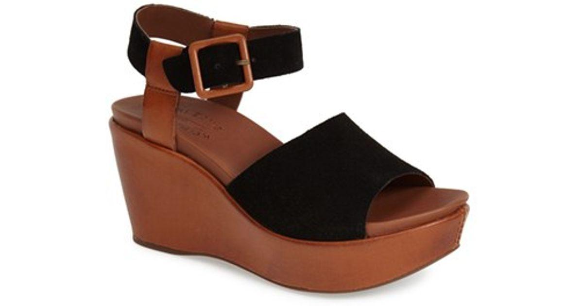 e3b4cfc00e22 Lyst - Kork-Ease  Keirn  Platform Wedge Sandal in Black