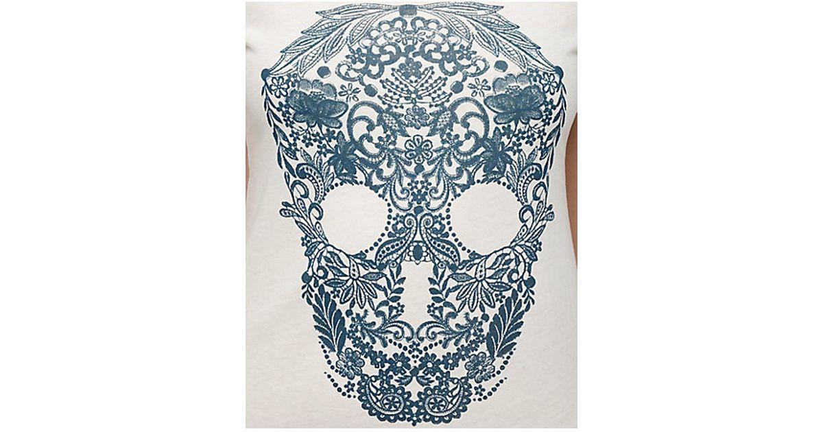 True religion Lace Skull Crew Womens Tee in White for Men ...