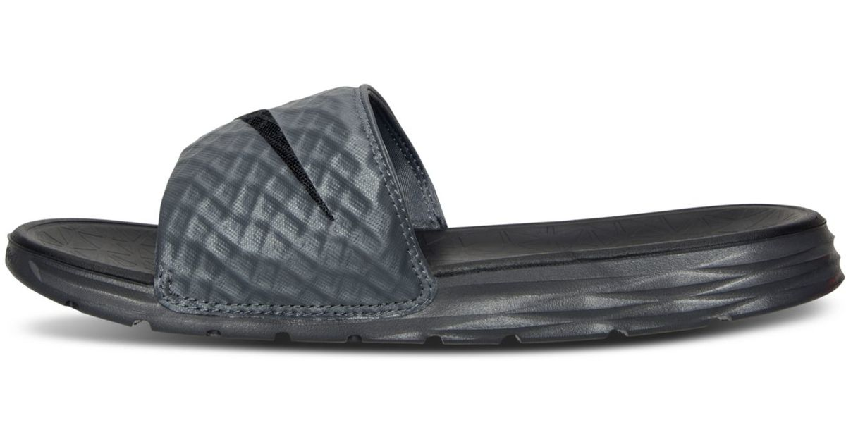 info for 96ce5 bc477 Lyst - Nike Men s Benassi Solarsoft Slide 2 Sandals From Finish Line in Gray  for Men