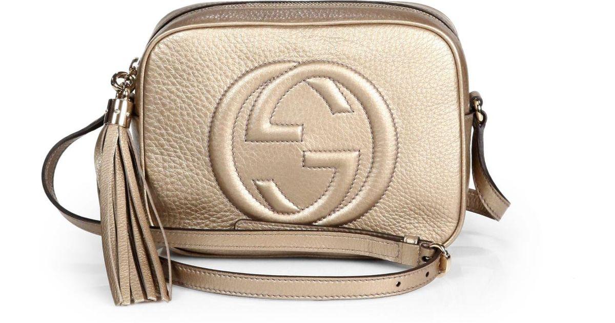 Lyst - Gucci Soho Metallic Leather Disco Bag in Metallic