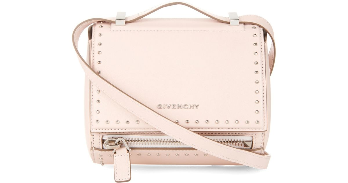 Lyst - Givenchy Pandora Box Mini Leather Bag in Natural 176f7ad3d5059