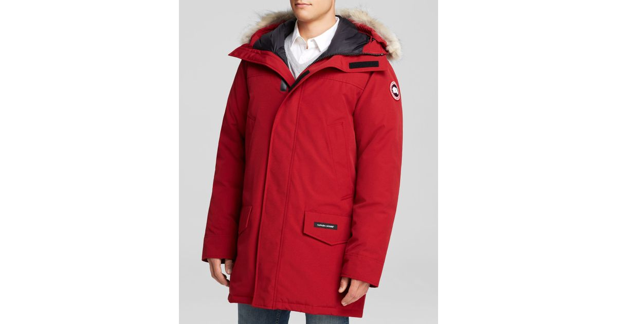 87b70dfca92 Canada Goose Langford Parka With Fur Hood in Red for Men - Lyst