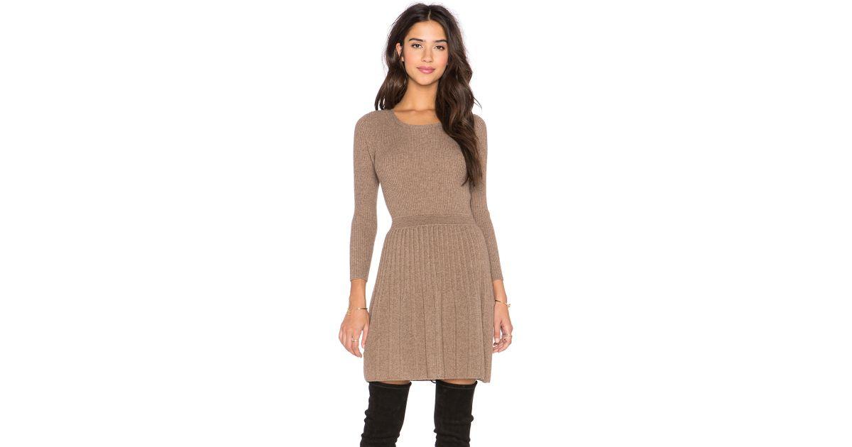 e004079656 Lyst - Joie Peronne Long Sleeve Sweater Dress in Brown