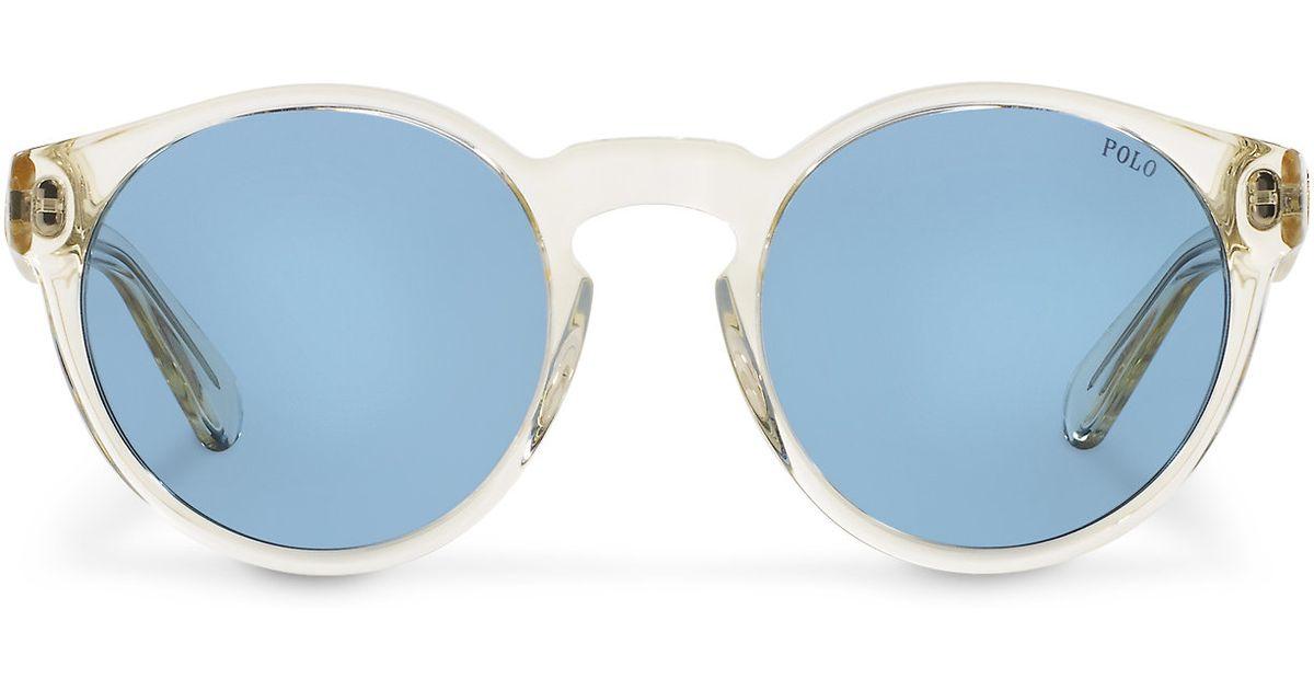 Lyst - Polo Ralph Lauren Clear Sunglasses in Blue