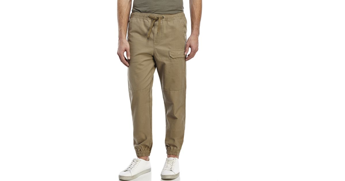 Awesome  Khaki Almond Color Jogger Heft Brand Signature Twill Pants  EBay