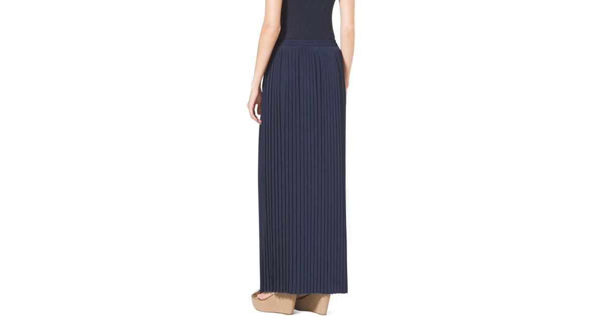 f059e90d8 Navy Blue Pleated Maxi Skirt - Image Skirt and Slipper Imagepv.co