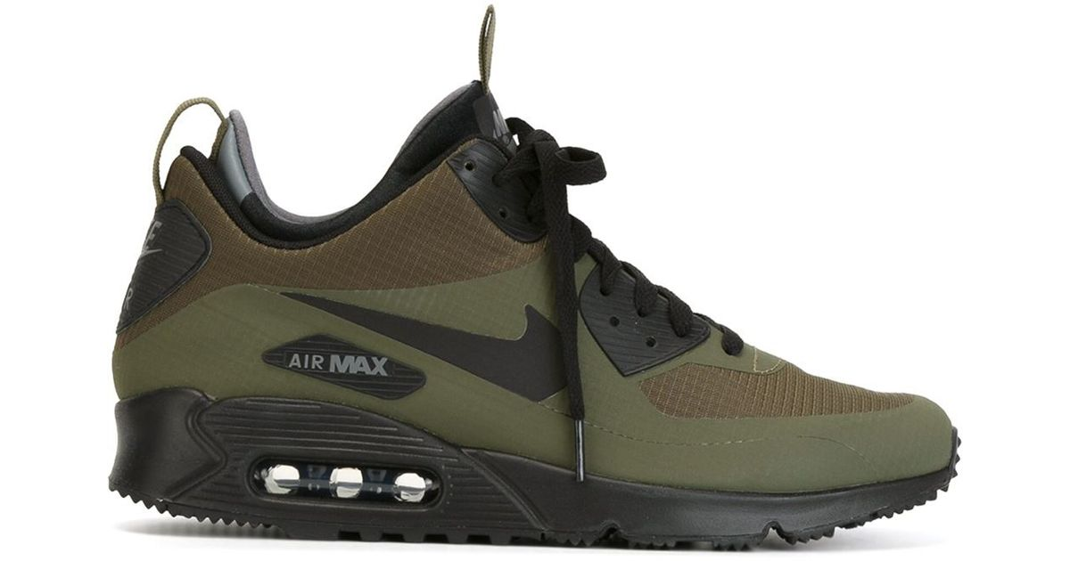 quality design 766af b1b78 Nike Air Max 90 Mid Winter Sneaker Boots in Green for Men - Lyst