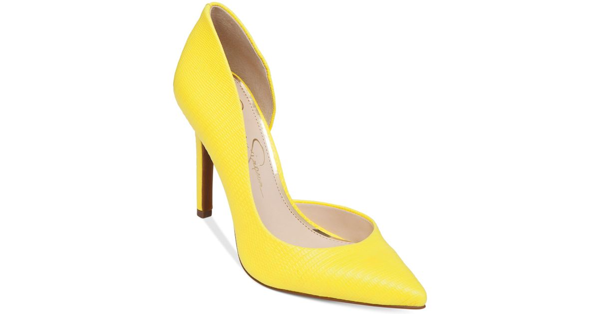 fef72d1c5f Jessica Simpson Claudette D'Orsay Pumps in Yellow - Lyst
