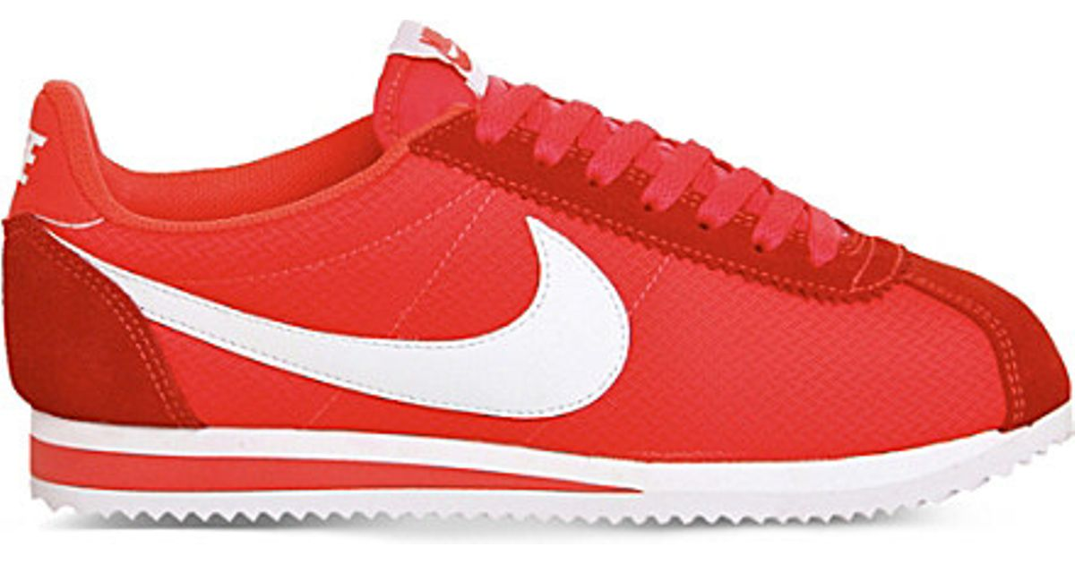 new arrival 5a011 95b57 Nike Cortez Og Suede And Nylon Trainers in Red - Lyst