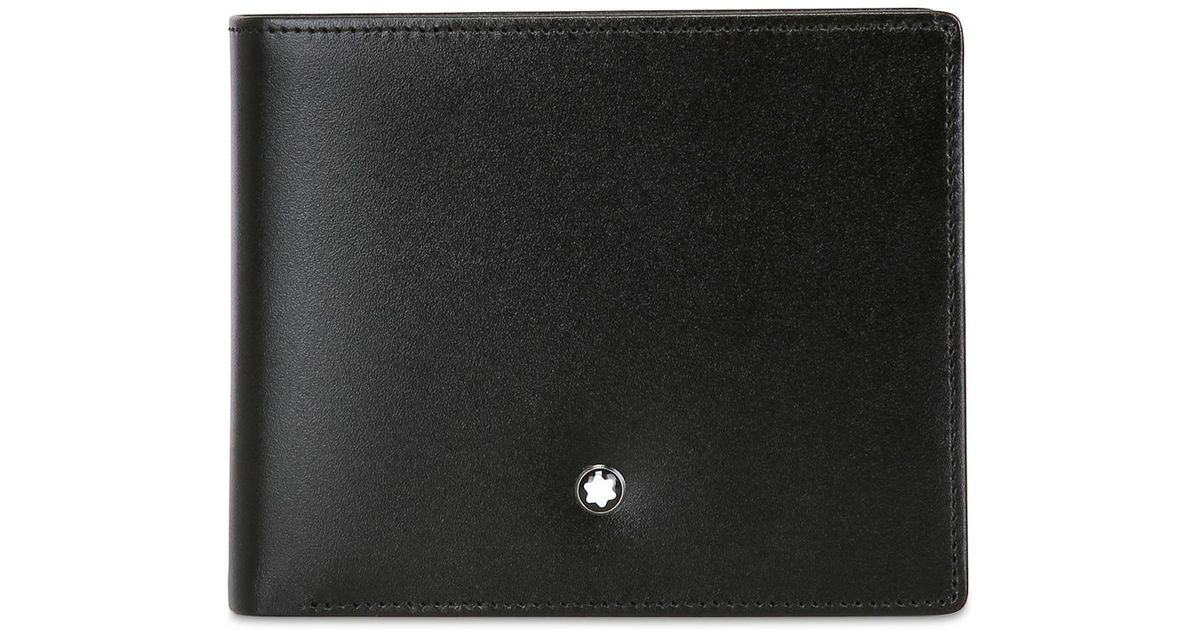 f2c16bb64e3b7 Montblanc Meisterstuck 12cc Leather Wallet in Black - Lyst