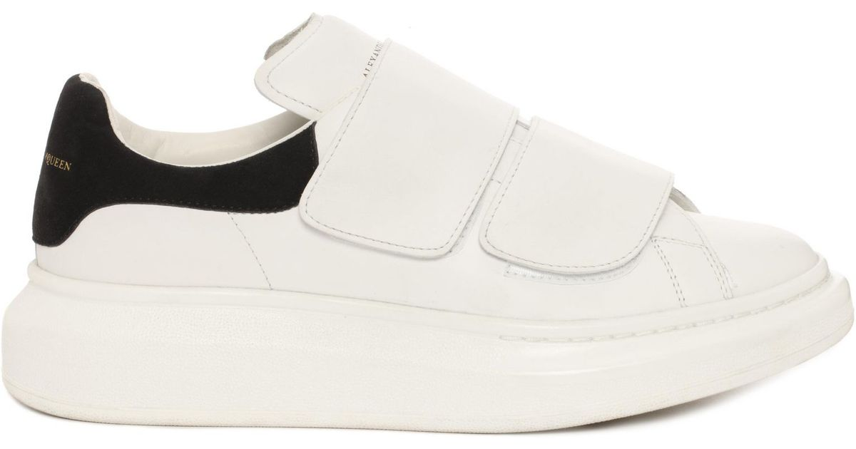 Lyst Alexander Mcqueen Velcro Strap Oversized Sneaker In White