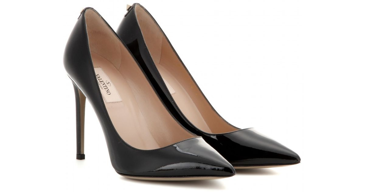Lyst - Valentino New Plain Patent-leather Pumps in Black