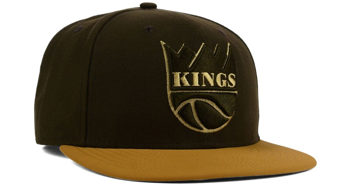 on sale 2ea14 d93de reduced lyst ktz sacramento kings nu season 9fifty snapback cap in brown  for men 874ff 2eec3