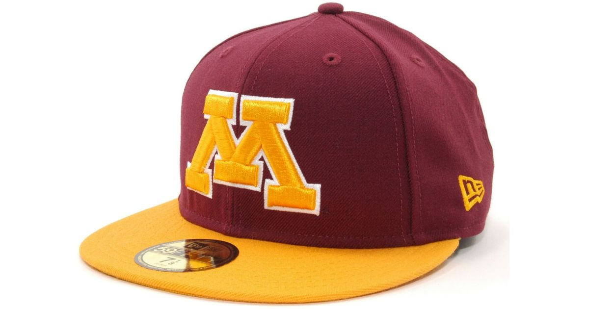 san francisco 0ad4a b62cd ... low cost lyst ktz minnesota golden gophers 2 tone 59fifty cap in red  for men bb6f9