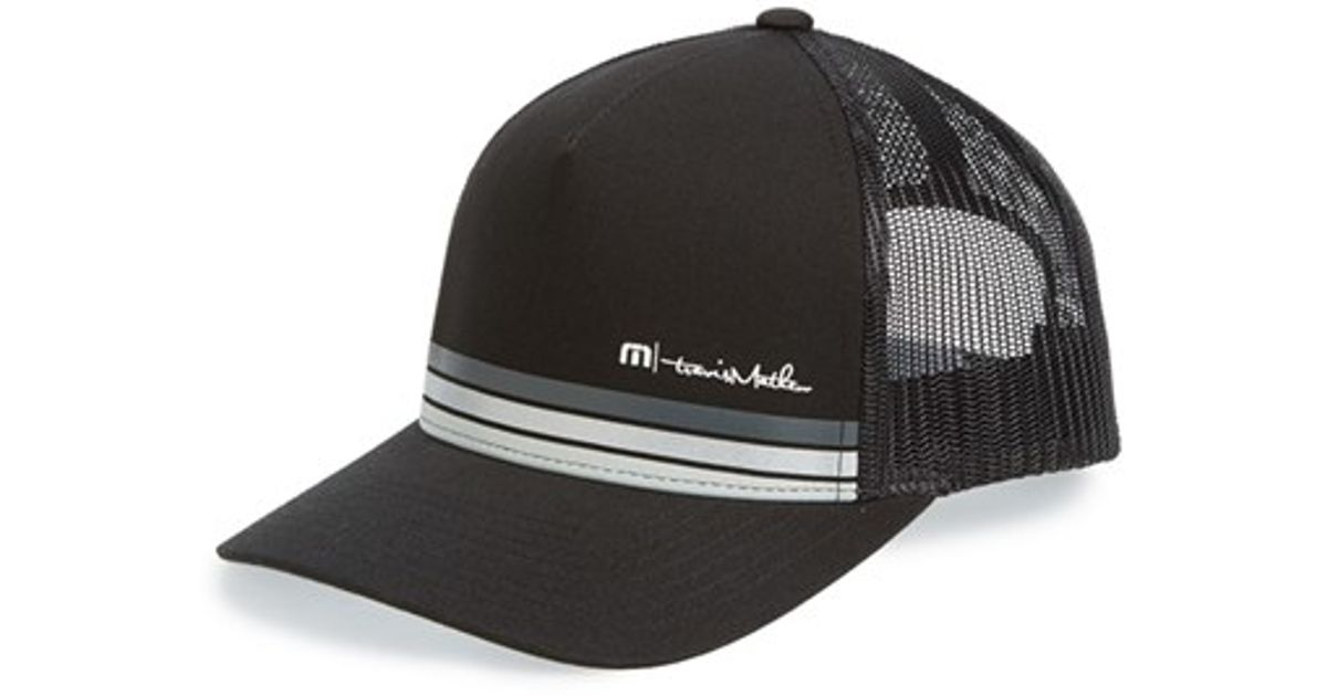 ... top quality travis mathew bronco snapback hat in black for men lyst  64d53 8e5a2 ... 76dcdd60faed
