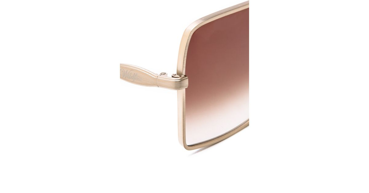 f141c665d86 Lyst - Wildfox Fontaine Sunglasses in Metallic